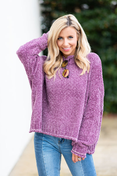 Respond With Kindness Sweater, Mauve
