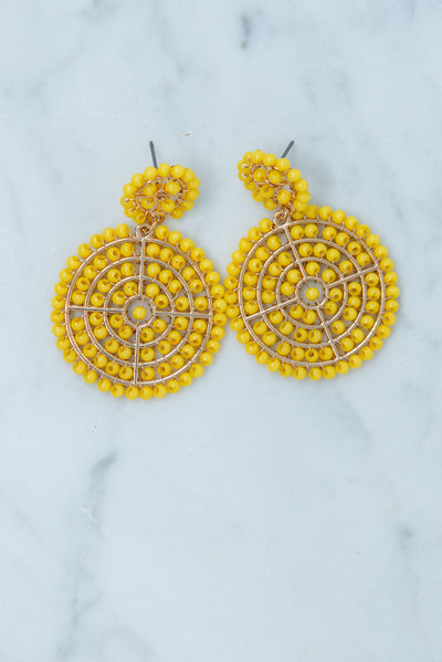 The Stand Out Earrings, Yellow