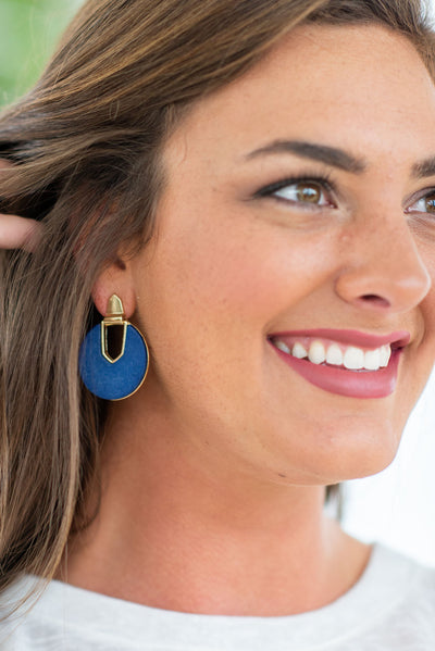 This Love Earrings, Blue-Gold