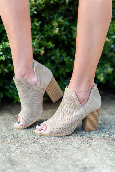 Join You Anywhere Booties, Taupe