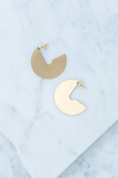 Going Mod Earrings, Gold