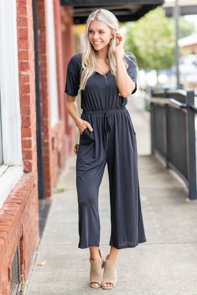 Ready For The Day Jumpsuit, Black