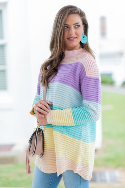 Whatever You Do Tunic, Pastel Multi