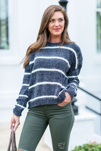 Touch Of Perfection Sweater, Charcoal