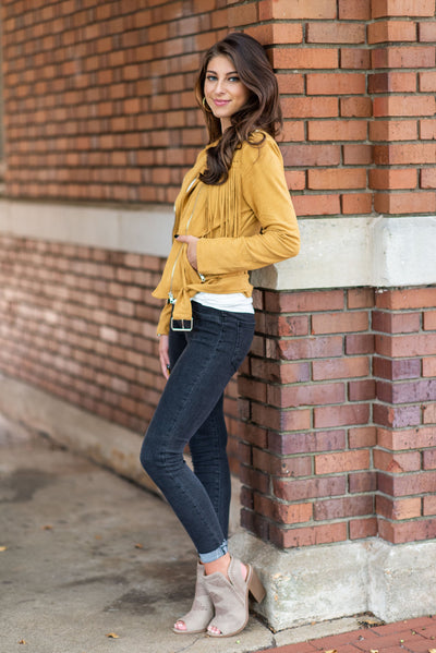 Bold Moves Jacket, Mustard
