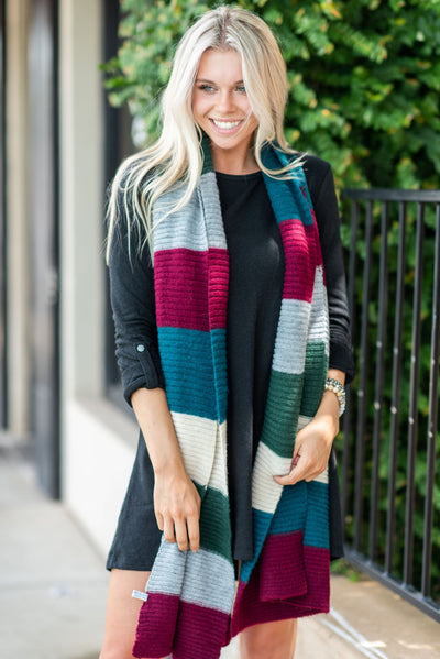 Ready For The Chill Scarf, Burgundy