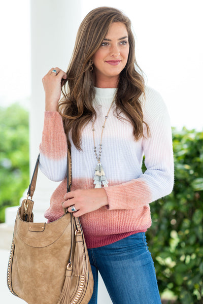 Off In The Sunset Sweater, Mauve