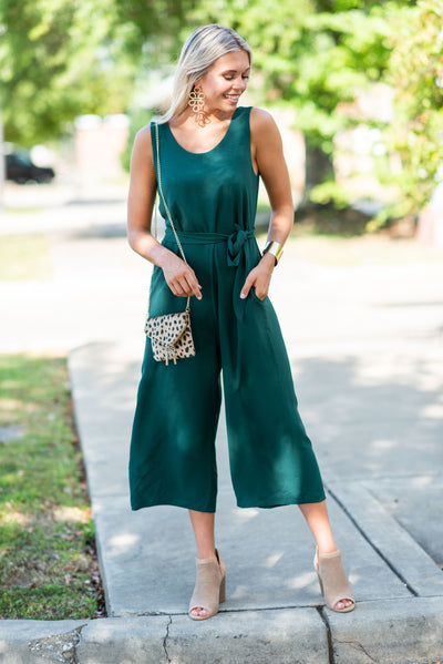 What A Sensation Jumpsuit, Hunter Green
