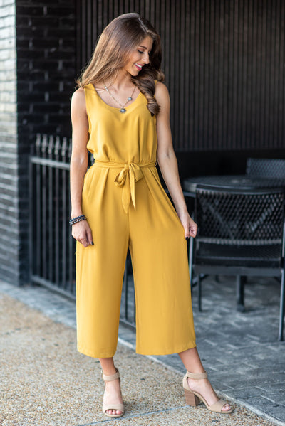 What A Sensation Jumpsuit, Mustard