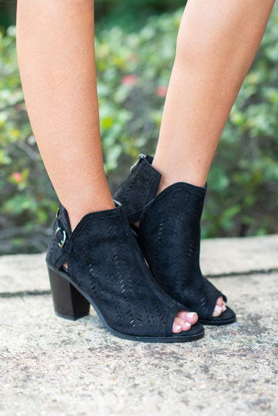 Love To Love You Booties, Black
