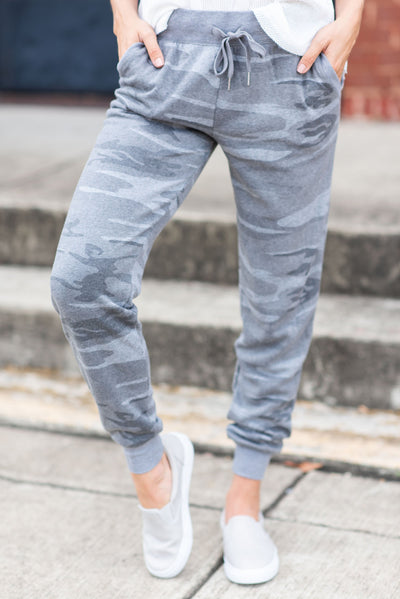 Z Supply: The Loft Joggers, Gray Camo