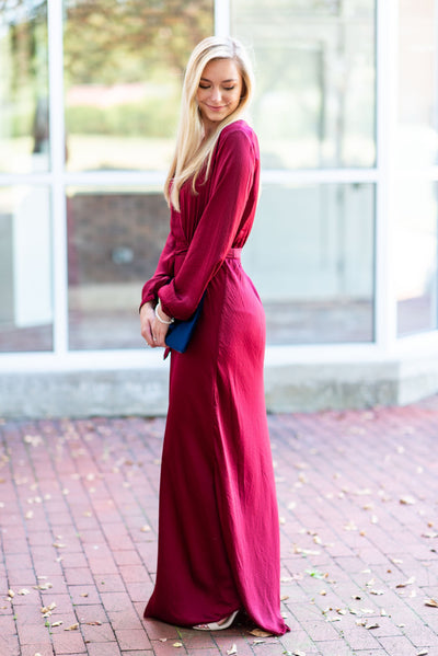 Full Of Grace Maxi Dress, Burgundy