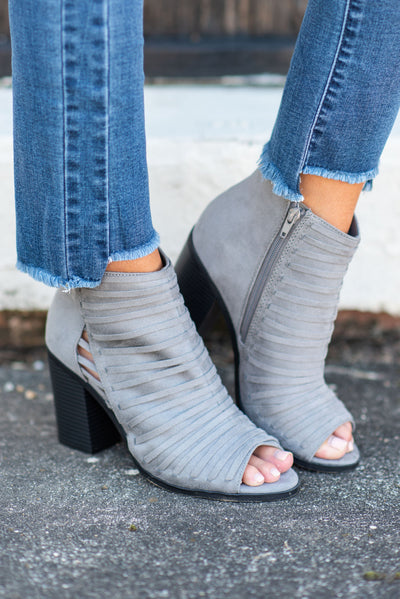 Work With You Booties, Gray