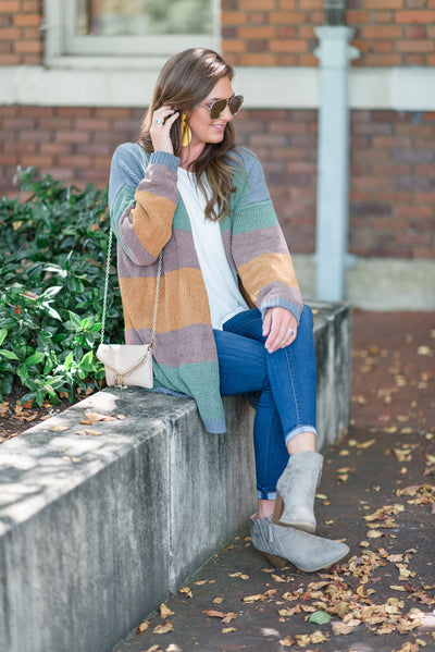 Cozy Cottage Cardigan, Olive-Honey