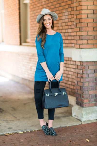 Medley In Love Tunic, Dark Teal
