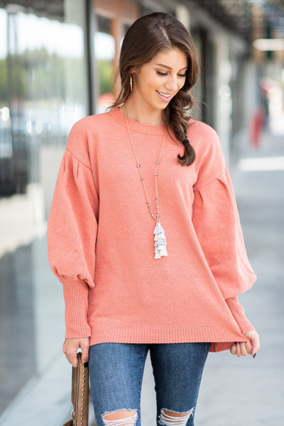 Warm To Be Wild Sweater, Blush