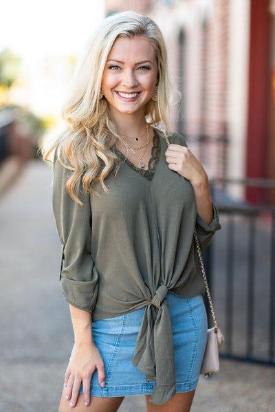 Steal Your Heart Top, Olive