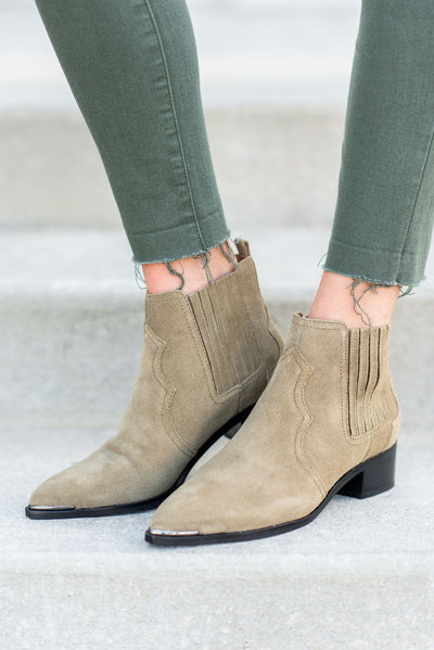 Marc Fisher: The Yohani Booties, Light Green
