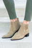 shoes, booties, fall shoes, close toed, short heels, green, light, solid, marc, fisher, designer