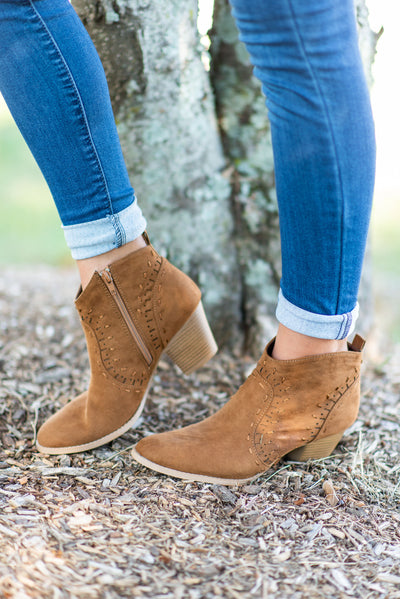 Walk West Booties, Maple