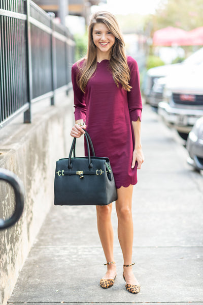 Pursue What You Love Dress, Burgundy