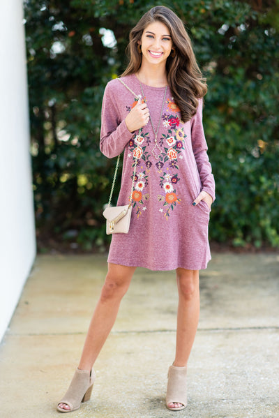 Life Is Beautiful L/S Dress, Wine