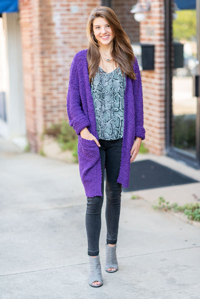 Make It All Better Cardigan, Purple