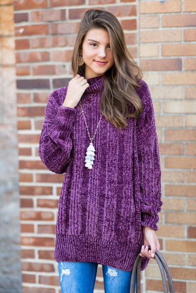 Just So Lovely Sweater, Plum