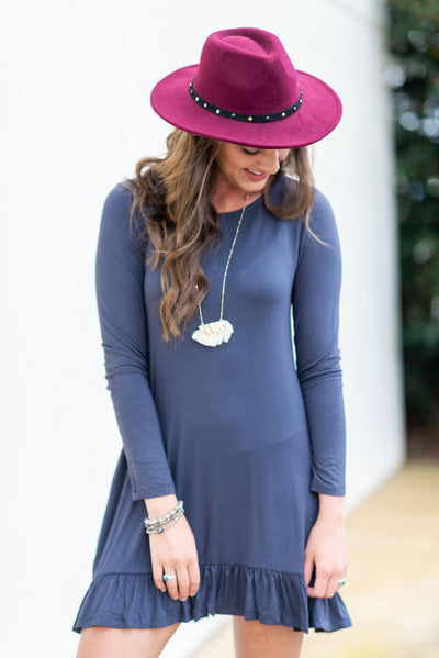 Always Be Adorable Dress, Slate