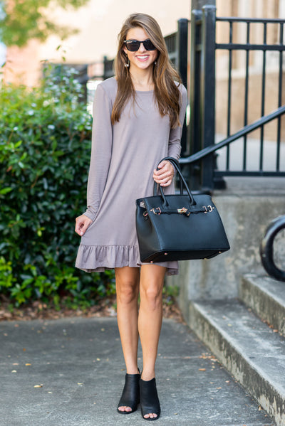 Always Be Adorable Dress, Taupe