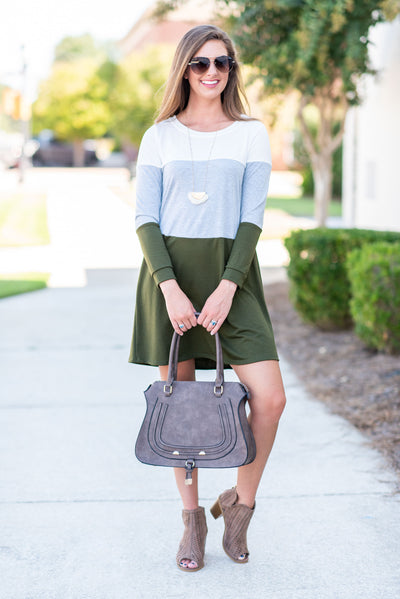 Constant Chill Dress, Olive