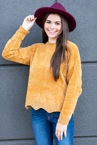 In The News Sweater, Mustard