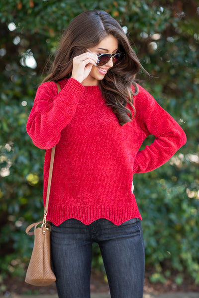 In The News Sweater, Red