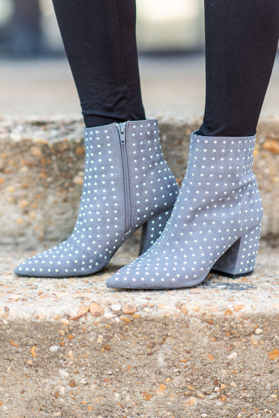 Give You An Edge Booties, Gray