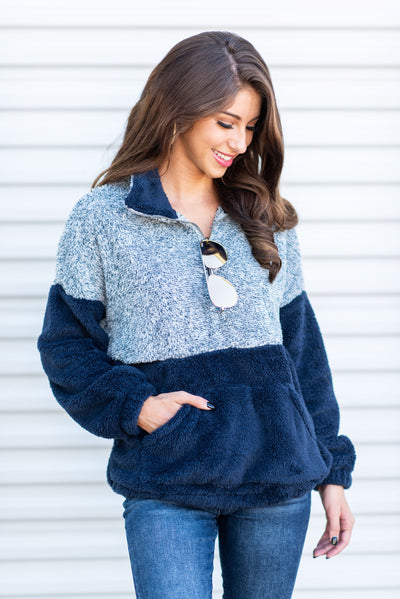 Cozy Attraction Pullover, Navy
