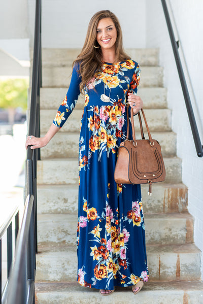 Promised Perfection Maxi Dress, Navy