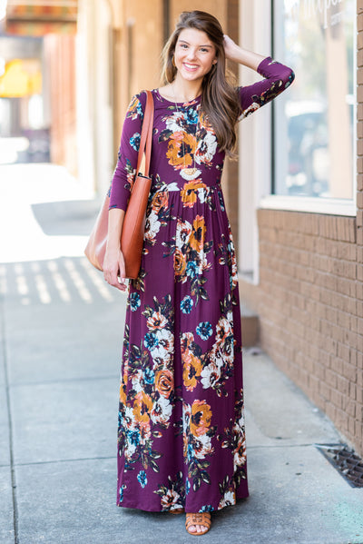 Promised Perfection Maxi Dress, Wine