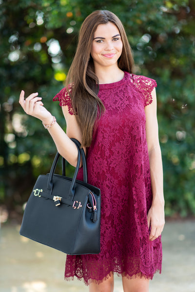 Access To Beauty Dress, Burgundy