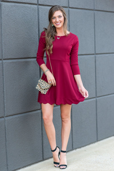 Spread The Word Dress, Burgundy