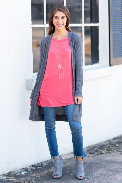 Medley In Love Tunic, Coral