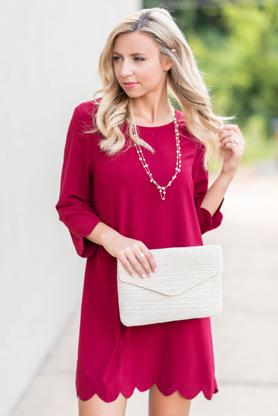 Your Future Is Bright Dress, Burgundy