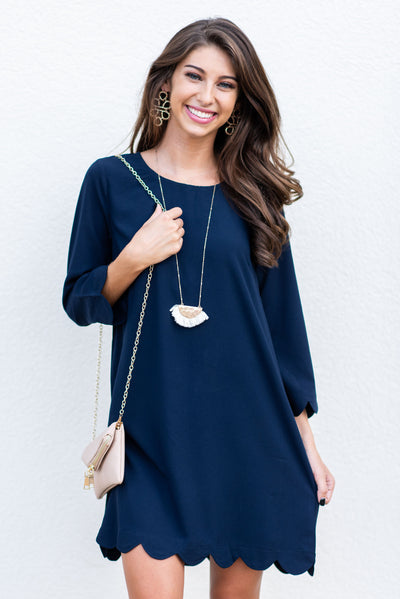 Your Future Is Bright Dress, Navy