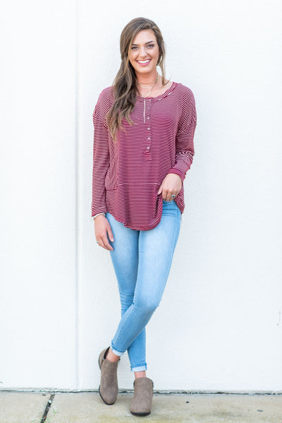 Easy Day Top, Burgundy