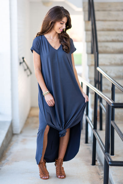 This Is No Dream Maxi Dress, Charcoal