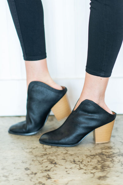 There For You Mule Booties, Black