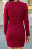 long sleeve tulip hem dress