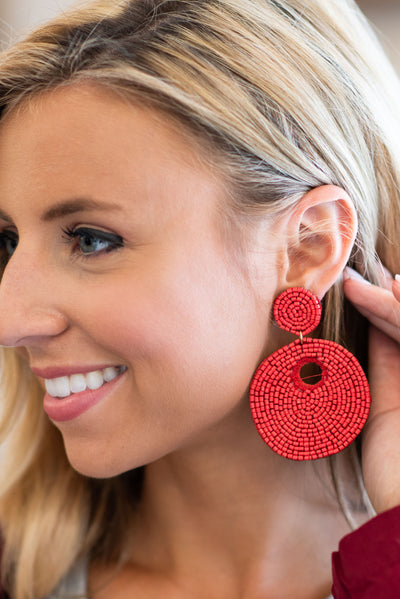 Believe In The Beauty Earrings, Red