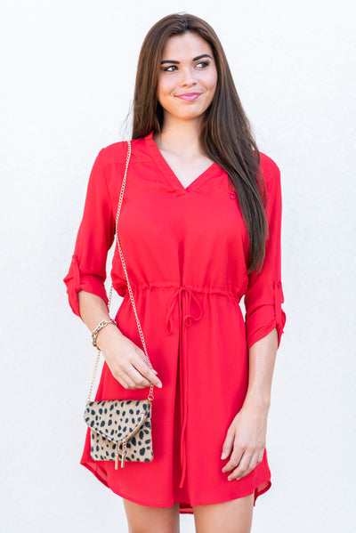 Carpool Fun Dress, Red