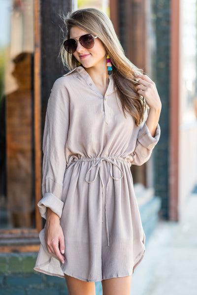 Meet You At The Office Dress, Taupe
