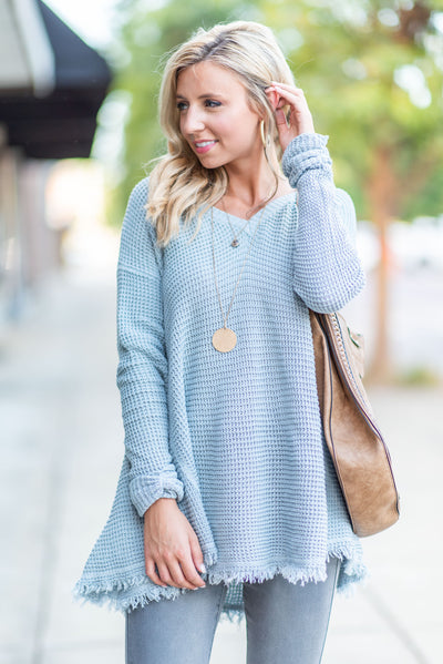 Too Irresistible Sweater, Misty Blue